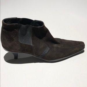 Prada women's dress brown suede heel size 40 1/2